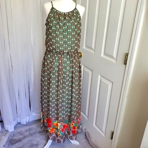 NWT Tacera Hibiscus Maxi Dress